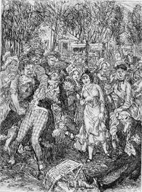 Paul de Kock's Monsieur Dupont (1825), illustrated by John Sloan