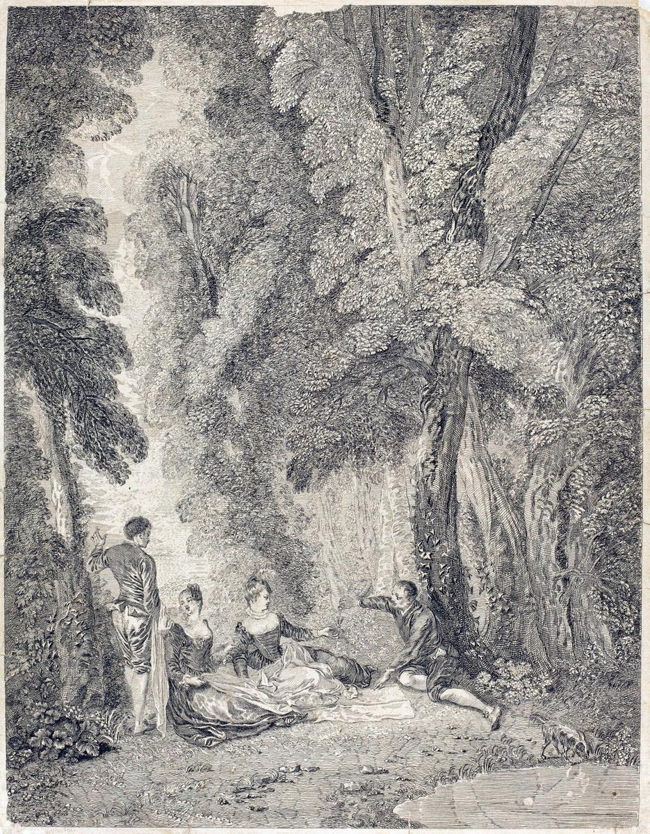 Jean-Antoine Watteau's La Collation (1721c.)