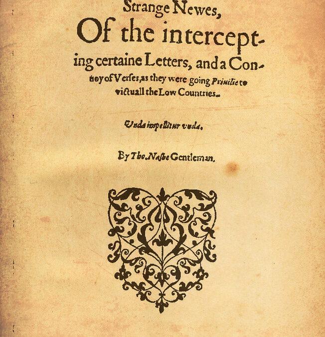 Thomas Nashe's Potluck(1592)