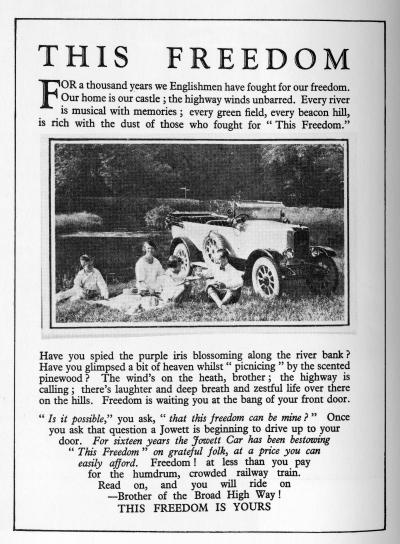 Jowett Cars Ltd. (1920) & Katherine Mansfield (1920)