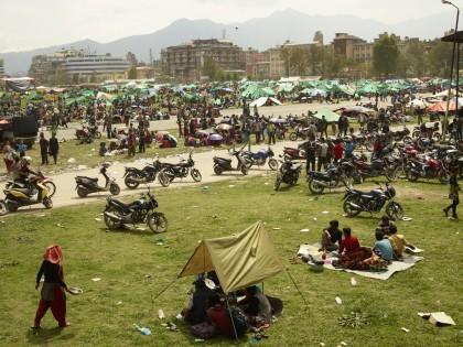 Giles Price. Parade Ground in Katmandu (2015)