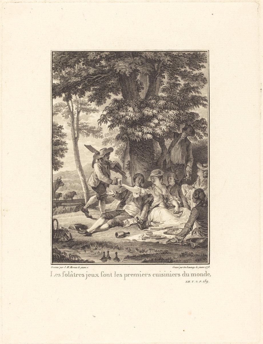 Rousseau's festin is a euphemism for a picnic