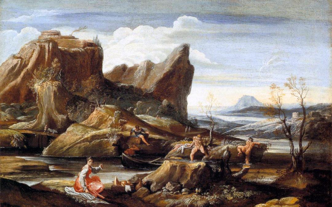 Carracci's Bathers, circa 1616