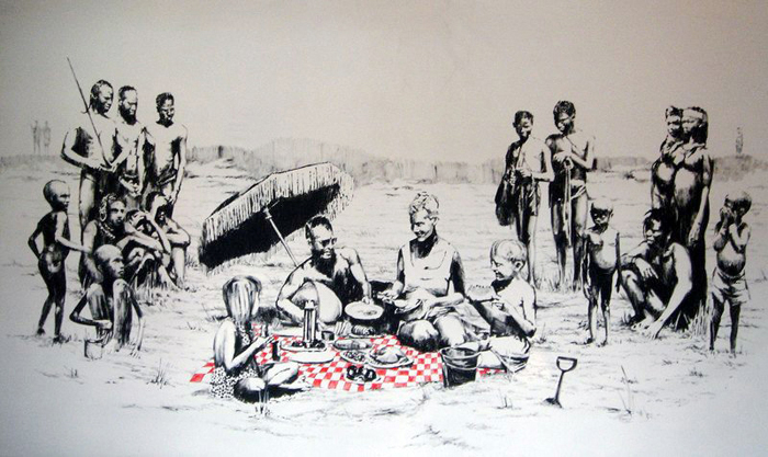 Banksy's Beach Picnic