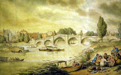 Thomas Rowlandson's Richmond Bridge, Surrey (after 1803)