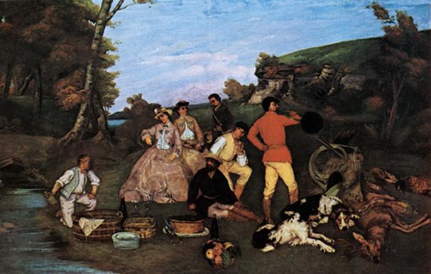 Gustave Courbet's  Le Repas de Chasse