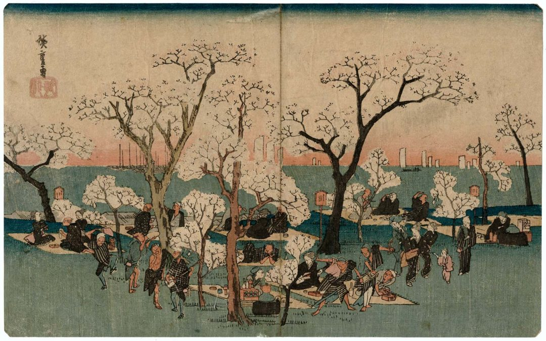 Ando Hiroshige's Cherry Blossom Viewing at Gotenyama