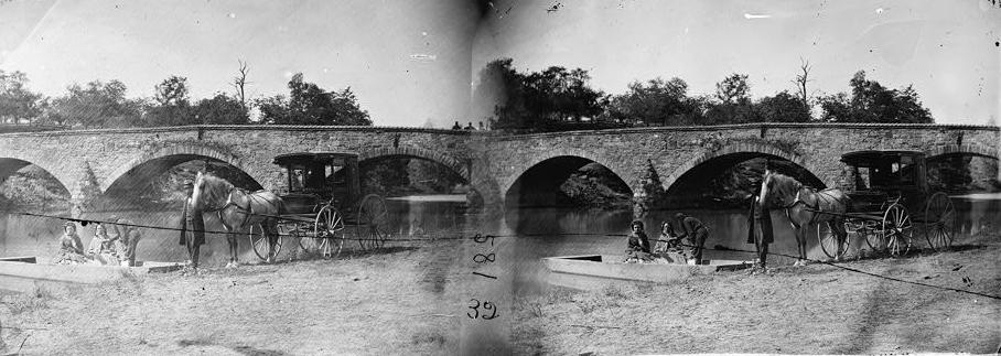 Alexander Gardner's A Pic-Nic Party at Antietam Bridge, Virginia, 22 September  1862