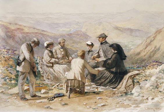 Carl Haag's Luncheon at Cairn Lochan 1868