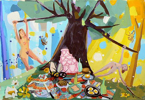 Judith Linhares'  Picnic Rock (2008)