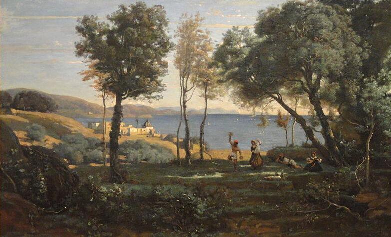 Jean-Baptiste Camille Corot's View Near Naples  (1841)