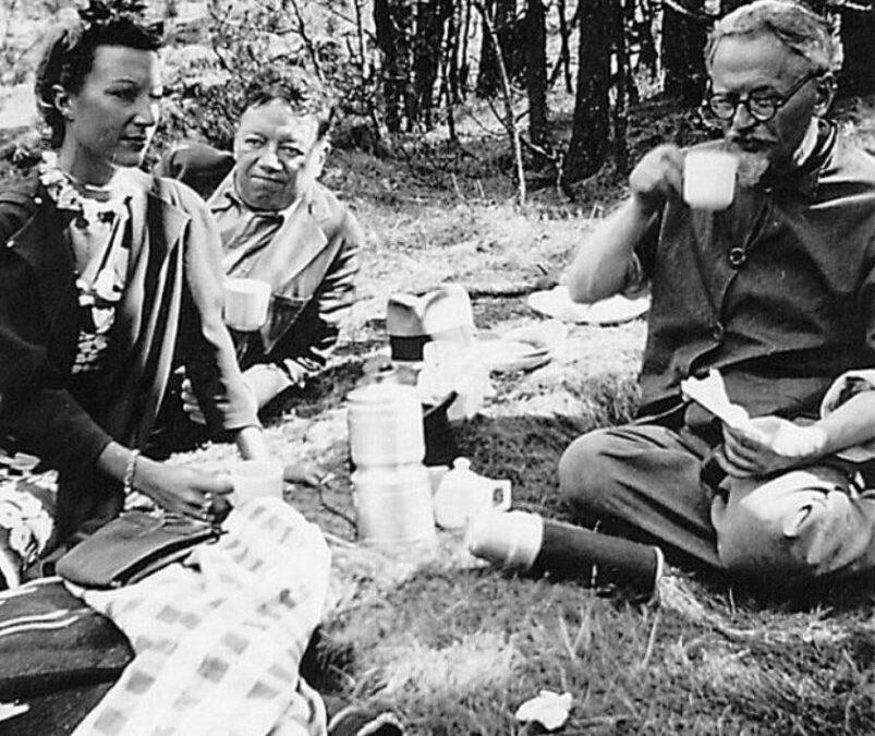 Leon Trotsky, Diego Rivera, and Jacqueline Lambda's Picnic (1938)