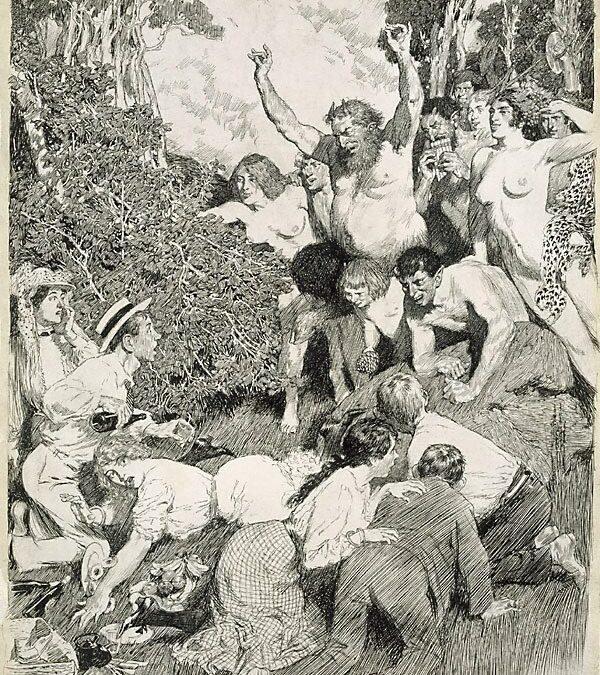 Norman Lindsay's The Picnic Gods (1907)