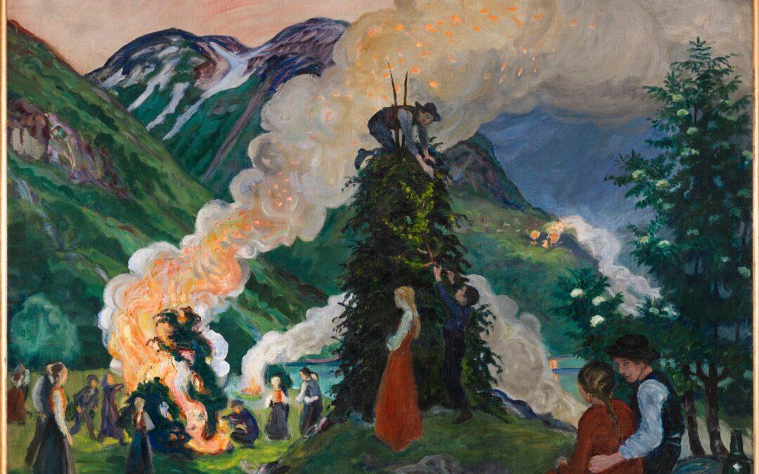 Nikolai Astrup's  Midsummer Picnics